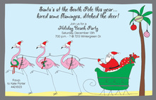 Santa Flamingos Invitation