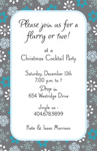 Snow Toile Invitation