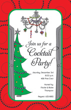 Funky Chandelier Holiday Invitations