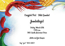 Huge Perfect Crawfish Invitation