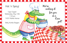 Alligator Preparing Soup Invitation