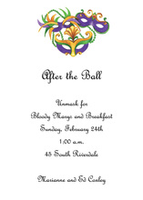 Feathers Mardi Gras Masks Invitation