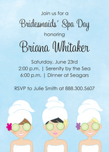 Enjoy Spa Day Special Shower Event Invitations