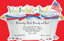 Patriotic Bucket Die-cut Invitations