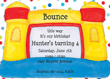Multi-colored Jump House Invitation