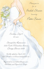 Pure White Dress Wedding Bouquet Invitations