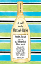 Classic Bottle In Stripes Invitation