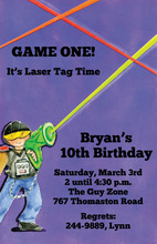 Playing Laser Game Invitation
