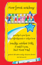 Star In Box Of Crayons Invitation