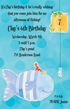 Celebrating Birthday Fishing Invitation