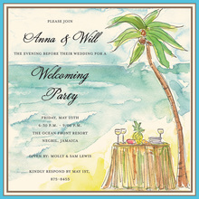 Palm Beach Square Tropical Invitations