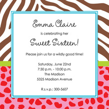 Wild Mix Square Invitations
