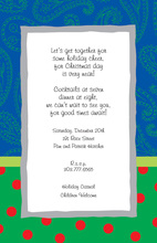 Splendid Blue Paisley Polka Dot Invite