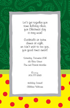 Superb Green Paisley Polka Dot Invitations