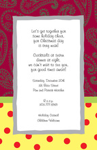 Maroon Paisley Polka Dot Invitations