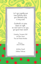 Yellow Paisley Red Polka Dot Invitations