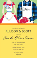 Summer Grill Couple Shower Invitations