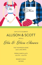Grilling Event Couple Invitations