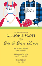 Simple Grill Modern Couple Invitations