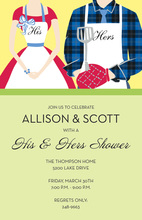 Casual Grill Couple Shower Invitations