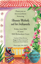 Garden Bench Mint Mexican Invitations