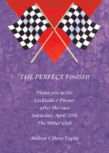Purple Texture Two Racing Flags Invite