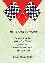 Celebration Racing Flags Sage Invitations
