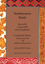 Brown Southwestern Paisley Trim Invitation