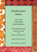 Mint Southwestern Paisley Trim Invitation