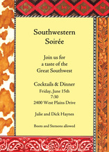 Yellow Southwestern Paisley Trim Invitation