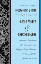 Elegant Evening Sky Blue Formal Invites