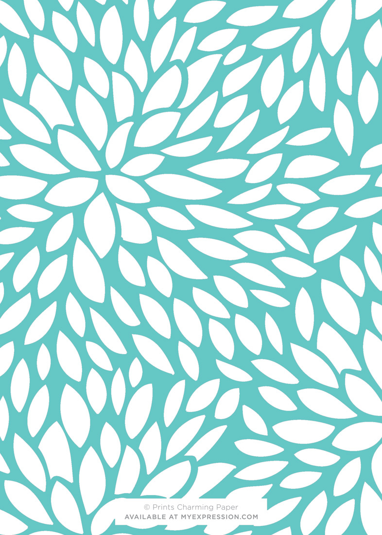 Monogram Teal White Floral Invitations