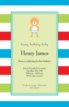 Baby Bear Mint Invitations