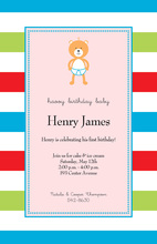 Baby Bear Pink Invitations