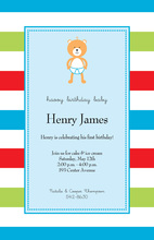 Baby Bear Blue Invitations