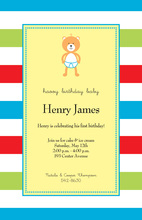 Baby Bear Yellow Invitations