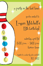 Bowling Game Birthday Invitations