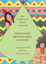 Native American Indian Mint Invitations