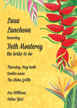 Tropical Floral Rainforest Yellow Invitations
