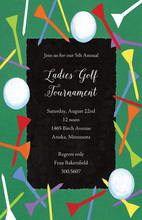 Scattered Golf Border Invitations