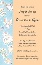Side Wedding Elements Collage Invitations