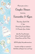 Wedding Elements Pink Collage Invitations