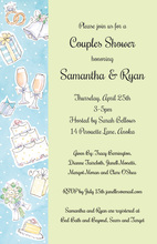 Wedding Elements Sage Collage Invitations