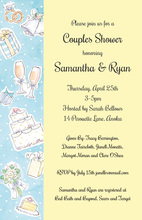 Wedding Elements Yellow Collage Invitations