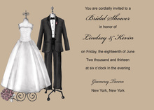 Modern Formal Couple Dress Wedding Invitations