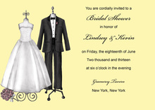 Modern Formal Couple Dress Yellow Wedding Invites