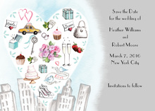 City Love Style Grey Invitation