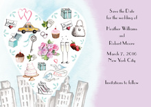 City Love Style Lavender Invitation