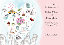 City Love Style Pink Invitation