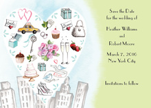 City Love Style Sage Invitation